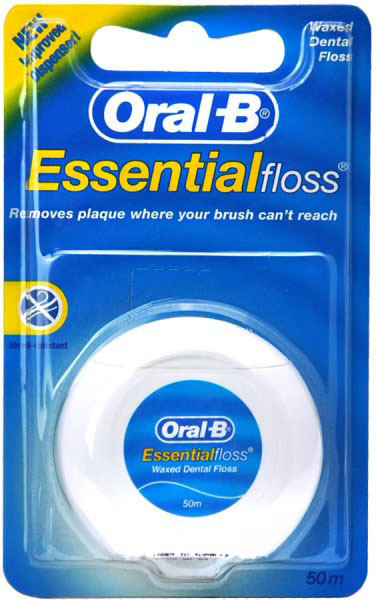 Oral-B Essential Floss, voskovaná, 50 ml