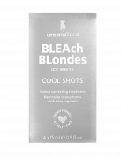 Lee Stafford Bleach Blondes Ice White Cool Shots - tónovacie kúry, 4x 15 ml