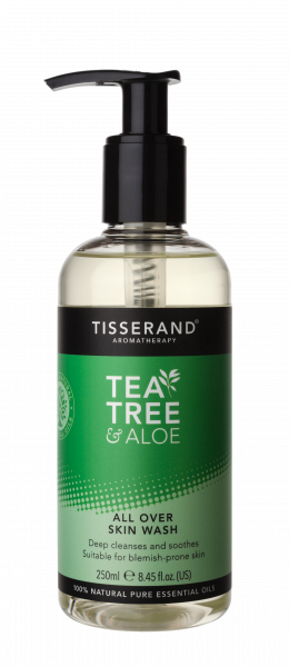 Tisserand Tea Tree & Aloe Vera čistiací gel na celé telo, 250 ml