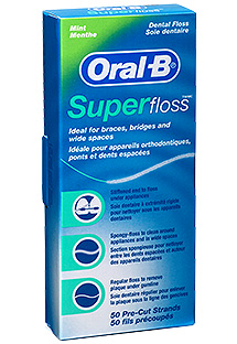Oral-B Superfloss zubná niť MINT, 50 ks